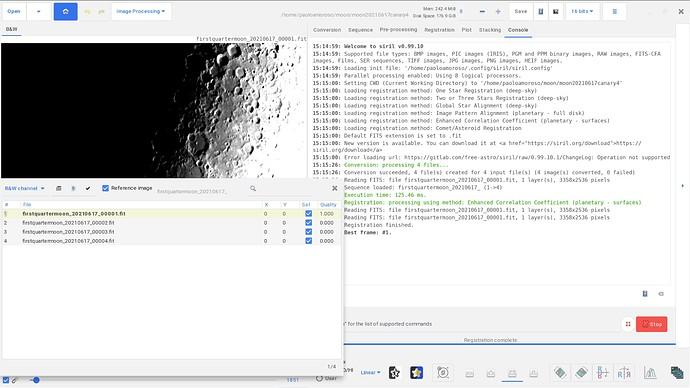 Lunar Registration Displacement